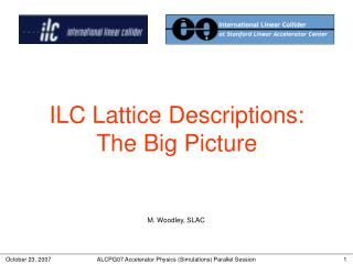 ILC Lattice Descriptions: The Big Picture
