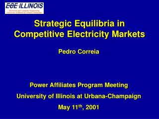 Strategic Equilibria in Competitive Electricity Markets