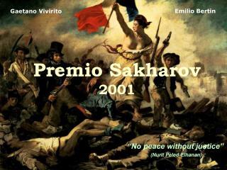 Premio Sakharov 2001
