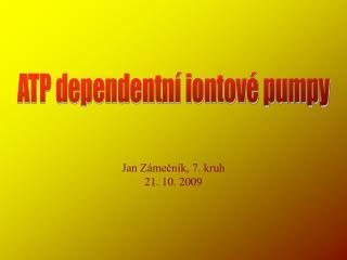 ATP dependentní iontové pumpy