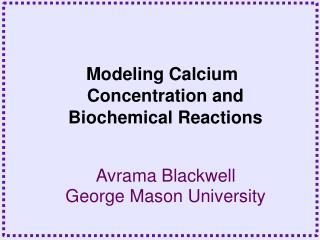 Avrama Blackwell George Mason University