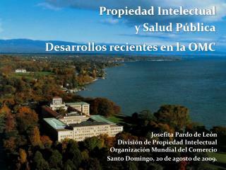 Josefita Pardo de León División de Propiedad Intelectual Organización Mundial del Comercio