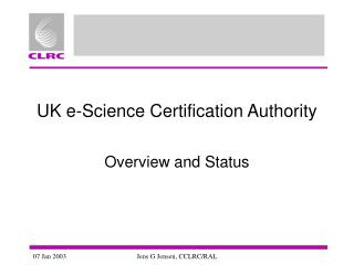 UK e-Science Certification Authority
