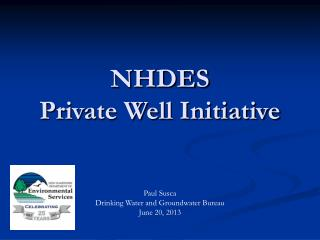 NHDES  Private Well Initiative