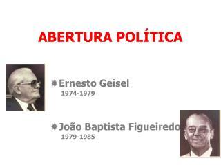 ABERTURA POLÍTICA
