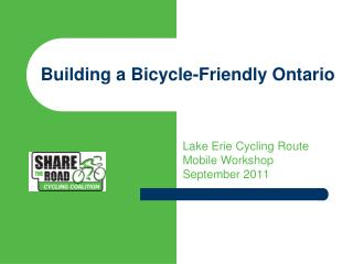 Building a Bicycle-Friendly Ontario