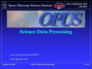 Science Data Processing