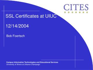 SSL Certificates at UIUC