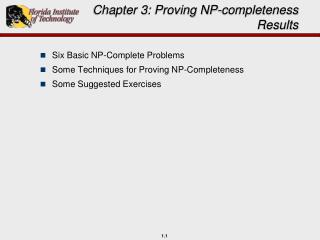 Chapter 3: Proving NP-completeness Results