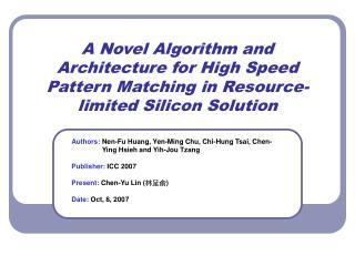 Authors: Nen-Fu Huang, Yen-Ming Chu, Chi-Hung Tsai, Chen-