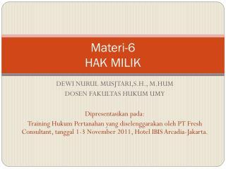 Materi-6 HAK MILIK