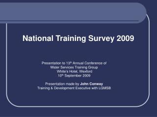 National Training Survey 2009