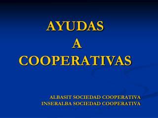 AYUDAS  A  COOPERATIVAS
