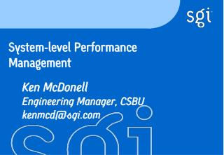 System-level Performance Management