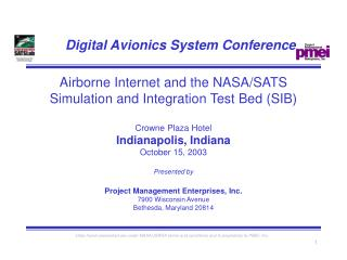 Digital Avionics System Conference