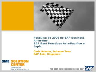 Pesquisa de 2006 do SAP Business All-in-One, SAP Best Practices Ásia-Pacífico e Japão