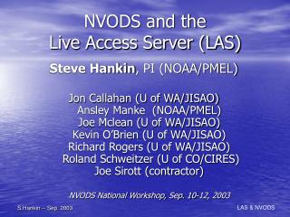 NVODS and the Live Access Server (LAS)