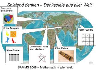 SAMMS 2008   Mathematik in aller Welt