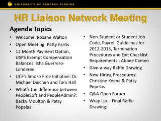 HR Liaison Network  Meeting