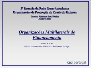 Organizações Multilaterais de Financiamento Teresa Fontela