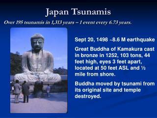 Japan Tsunamis