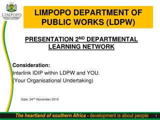 LIMPOPO DEPARTMENT OF PUBLIC WORKS (LDPW)