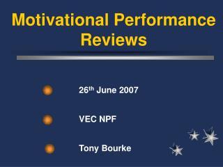 26 th  June 2007  VEC NPF  Tony Bourke