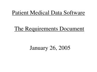 Patient Medical Data Software