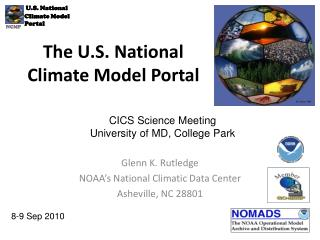 The U.S. National Climate Model Portal