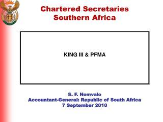 KING III & PFMA