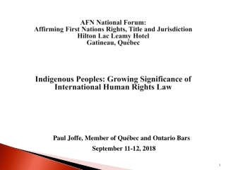 Indigenous peoples, gender, and natural resource management