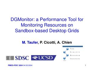 DGMonitor: a Performance Tool for Monitoring Resources on  Sandbox-based Desktop Grids
