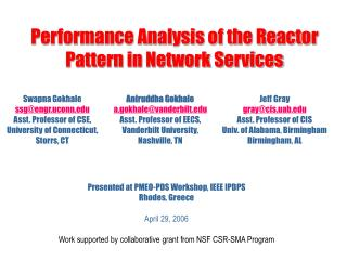 Performance Analysis of the Reactor Pattern in Network Services