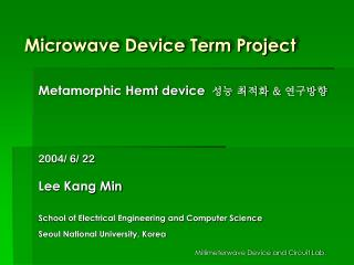 Microwave Device Term Project