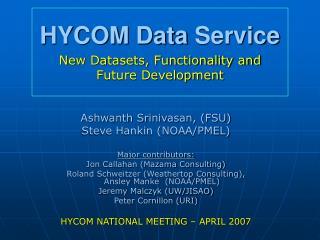 HYCOM Data Service