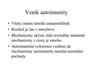 Vznik autoimunity