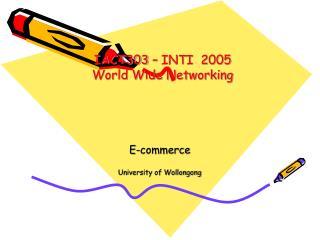 E-commerce University of Wollongong