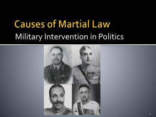 Causes of Martial Law