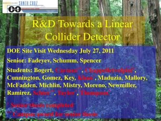 R&D Towards a Linear Collider Detector