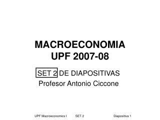 MACROECONOMIA UPF 2007-08