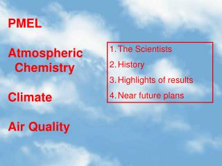 PMEL Atmospheric   Chemistry Climate Air Quality