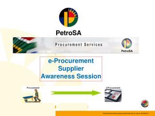 e-Procurement Supplier Awareness Session