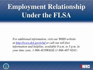 Employment Relationship  Under the FLSA