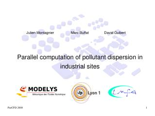 Parallel computation of pollutant dispersion in industrial sites