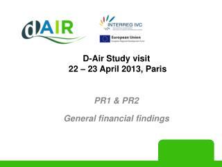 D-Air Study visit   22 – 23 April 2013, Paris