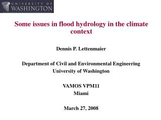 Some issues in flood hydrology in the climate context