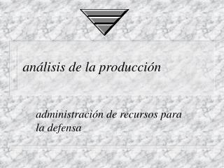 análisis de la producción