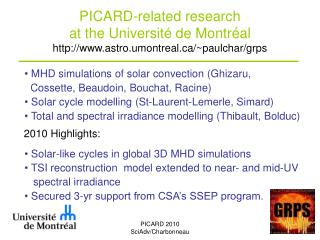 PICARD-related research at the Université de Montréal astro.umontreal/~paulchar/grps