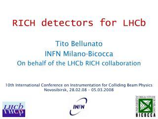 RICH detectors for LHCb
