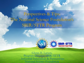 National Science Foundation  SBIR